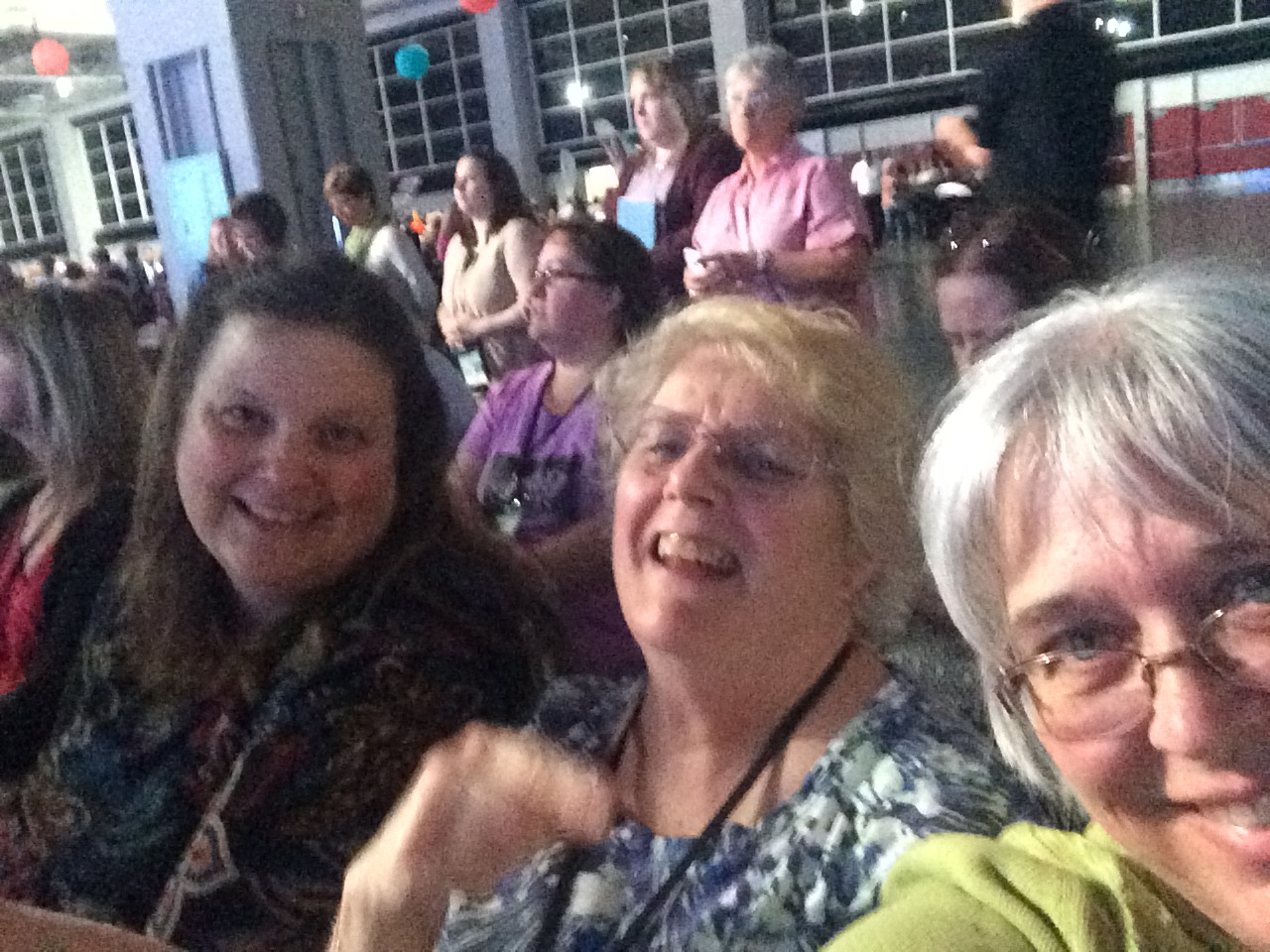 Photo of me, Ruthie and Michelle at OnStage Live