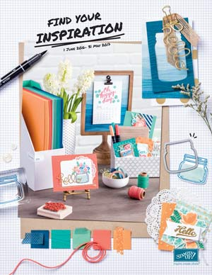 Front cover of 2016-2017 Stampin' Up! Annual Catalog