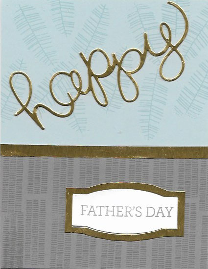 Father's Day card using Botannical Blooms and Crazy About You stamp sets