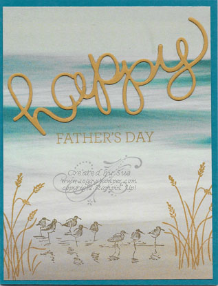 Handmade Father's Day Card using the Wetlands stamp