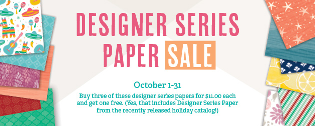 Designer Series Paper Sale header