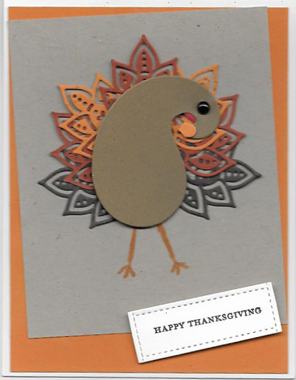 Thanksgiving card created with Paisley Framelits Dies
