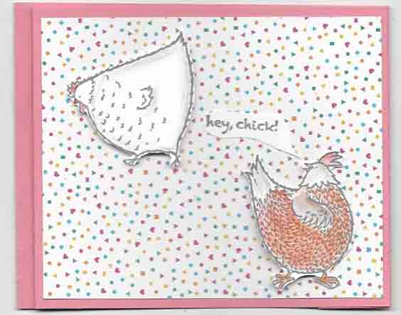 Wiper card using Hey Chick stamp set