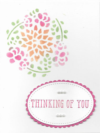 Handmade Thinking of You card created with a Window Box Thinlit die