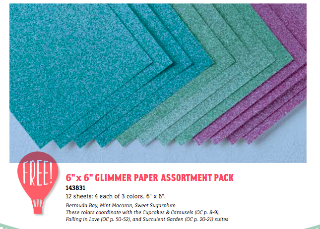 New colors of Glimmer paper for Sale-A-Bration