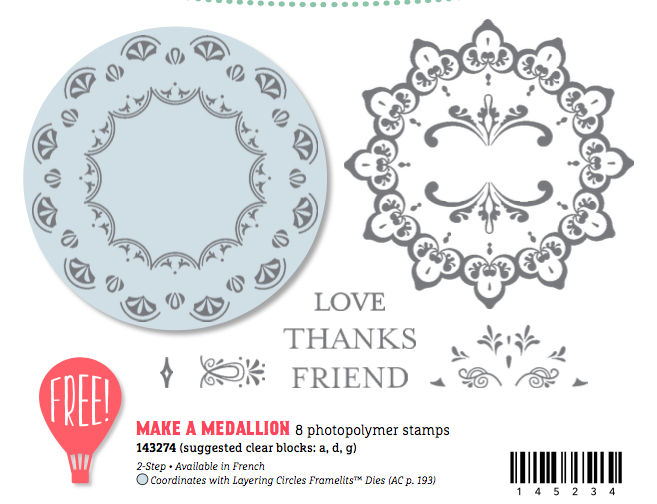 photo of Make a Medallion stamp set that is a new Sale-A-Bration Freebie