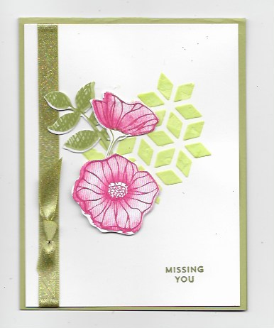 handmade greeting card using O So Eclectic Bundle and embossing paste
