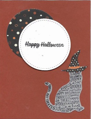 Halloween card using theSpooky Cat bundle and Spooky Night Designer Series Paper