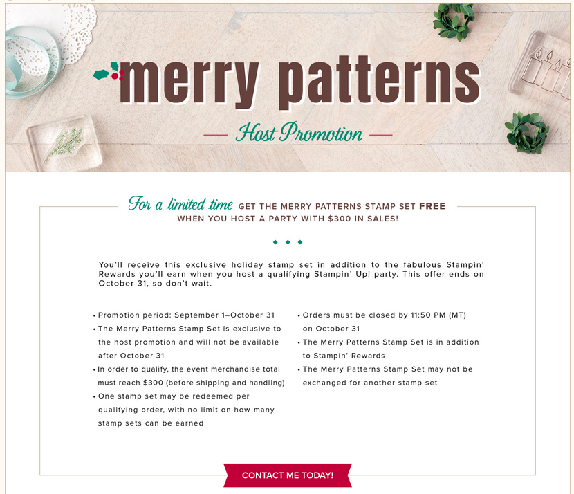 Merry Patterns Host Special