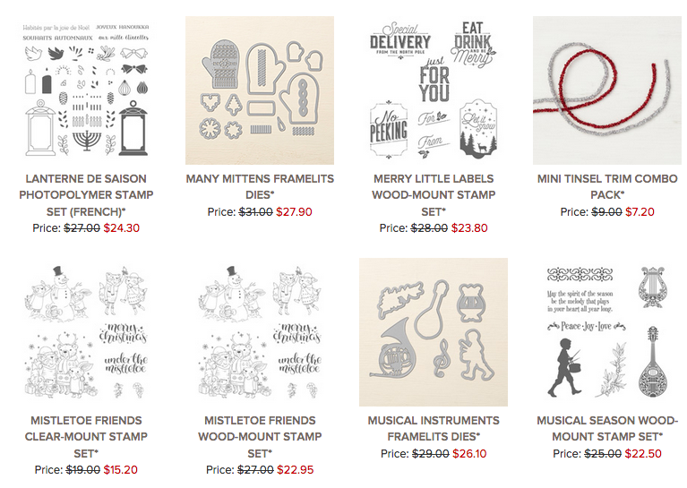 photo of discounted Stampin' Up! Items