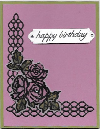 Birthday card created with the Petal Palette bundle