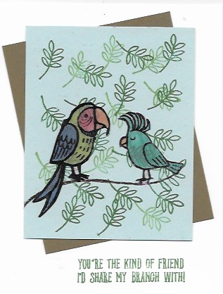 handmade card created with Bird Banter stamp set and Stained Glass Tech