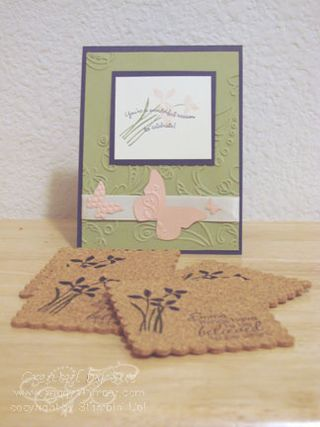Hieid's BD card and coasters