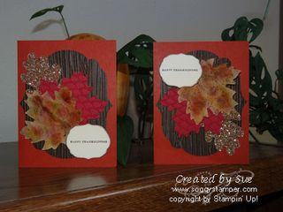 Fall leaves card double