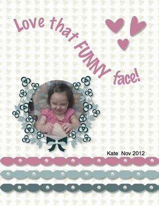 Enjoying Everything scrapbook page