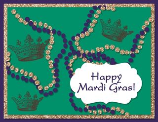 Mardi Gras digital card
